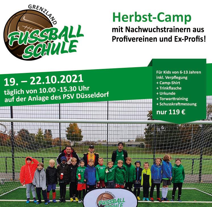 Polizei SV Düsseldorf Herbst-Camp 2021 der Fussballschule Grenzland in Düsseldorf